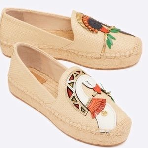 NEW Tory Burch Parrot Espadrilles